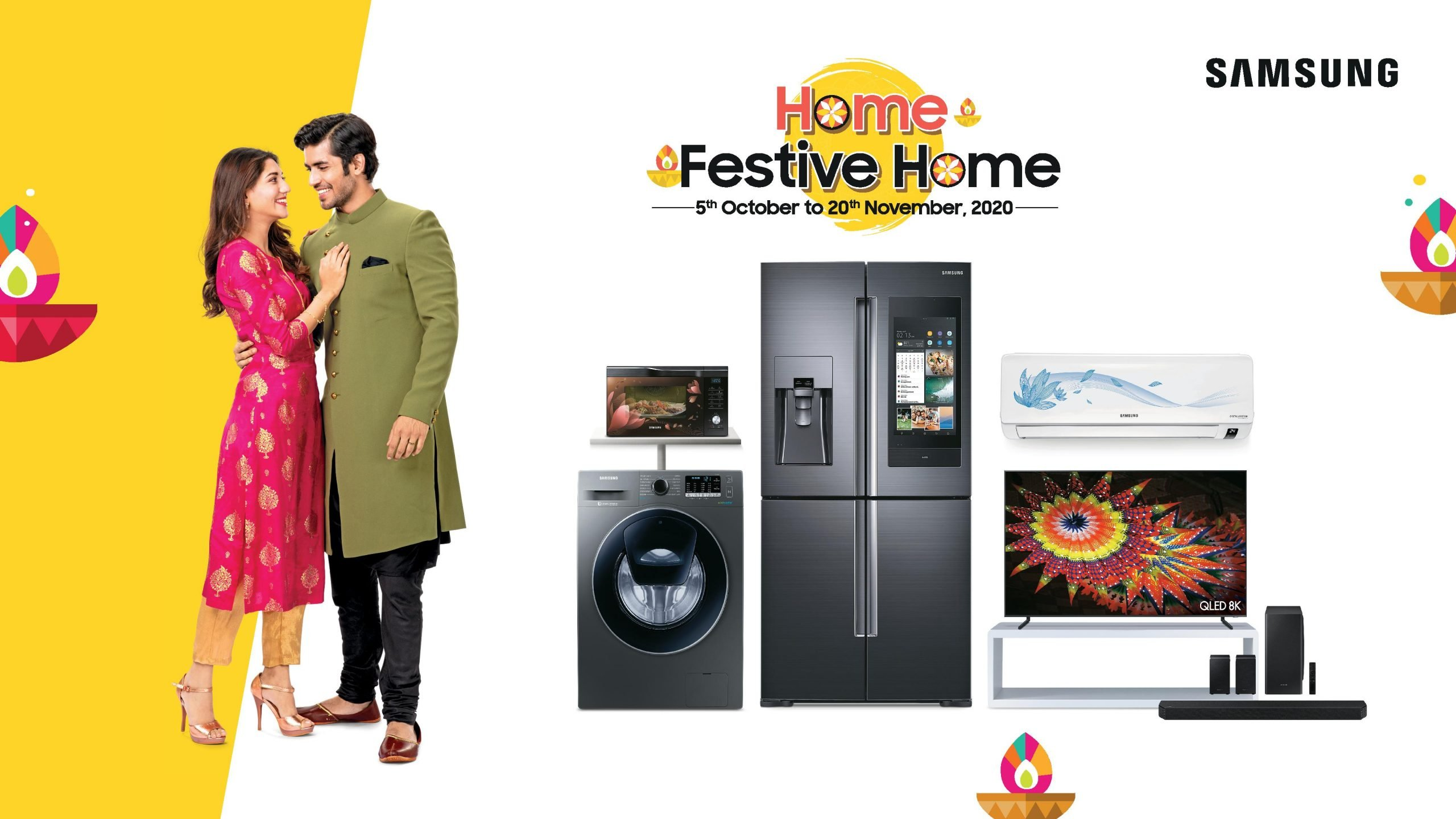 Celebrate This Festive Season With Samsung S Home Festive Home Offers Get Assured Gifts Exciting Deals Cashbacks And More News Monks